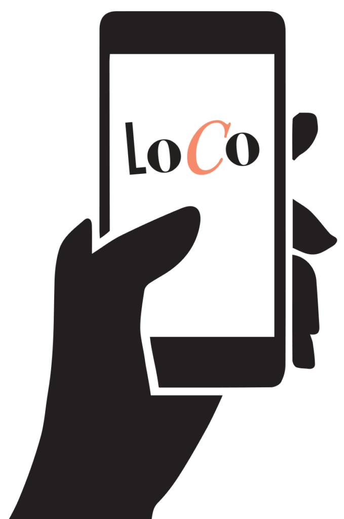LoCo text on mobile phone